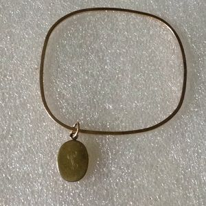 Vintage 12k g filled with charm bracelet